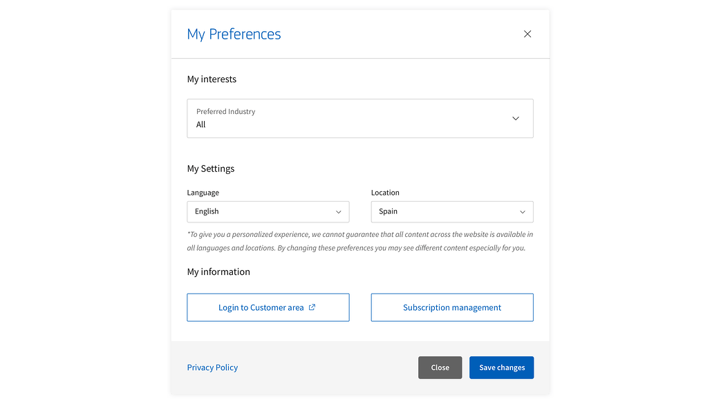 amadeus-preferences-settings