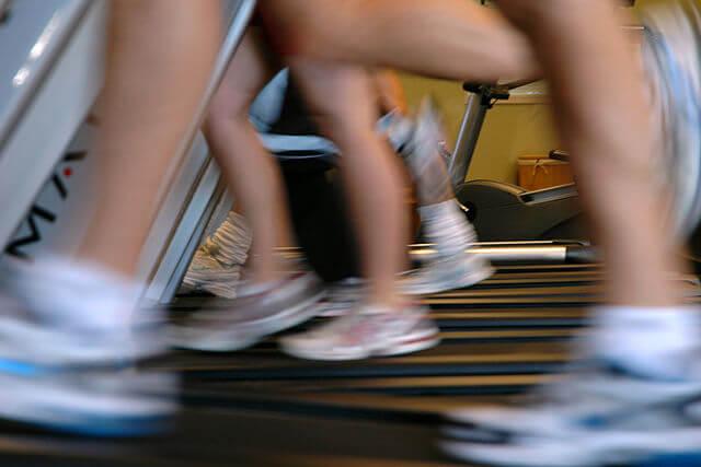 Walking on treadmills