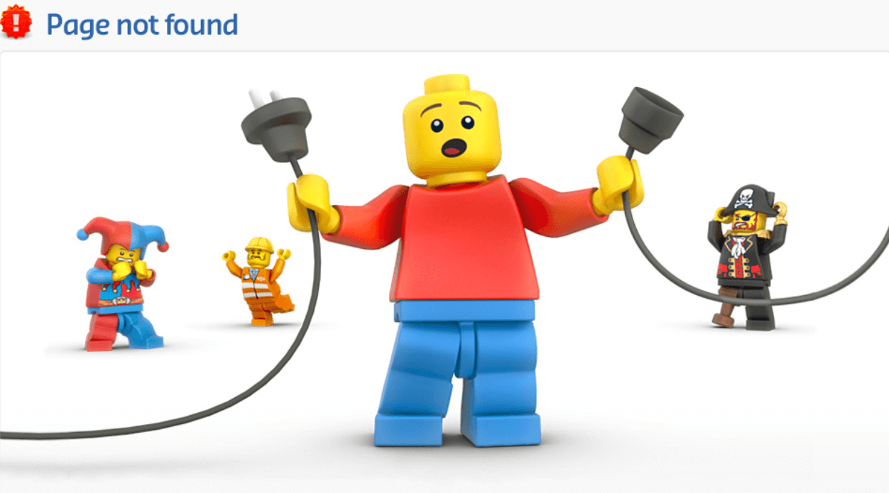 A confused Lego character holding an unplugged cord
