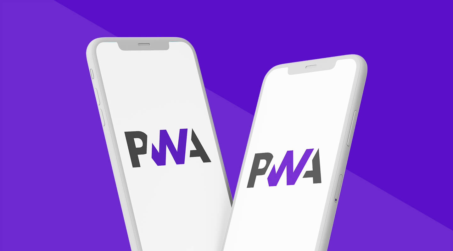 Mobile phones with the PWA logo